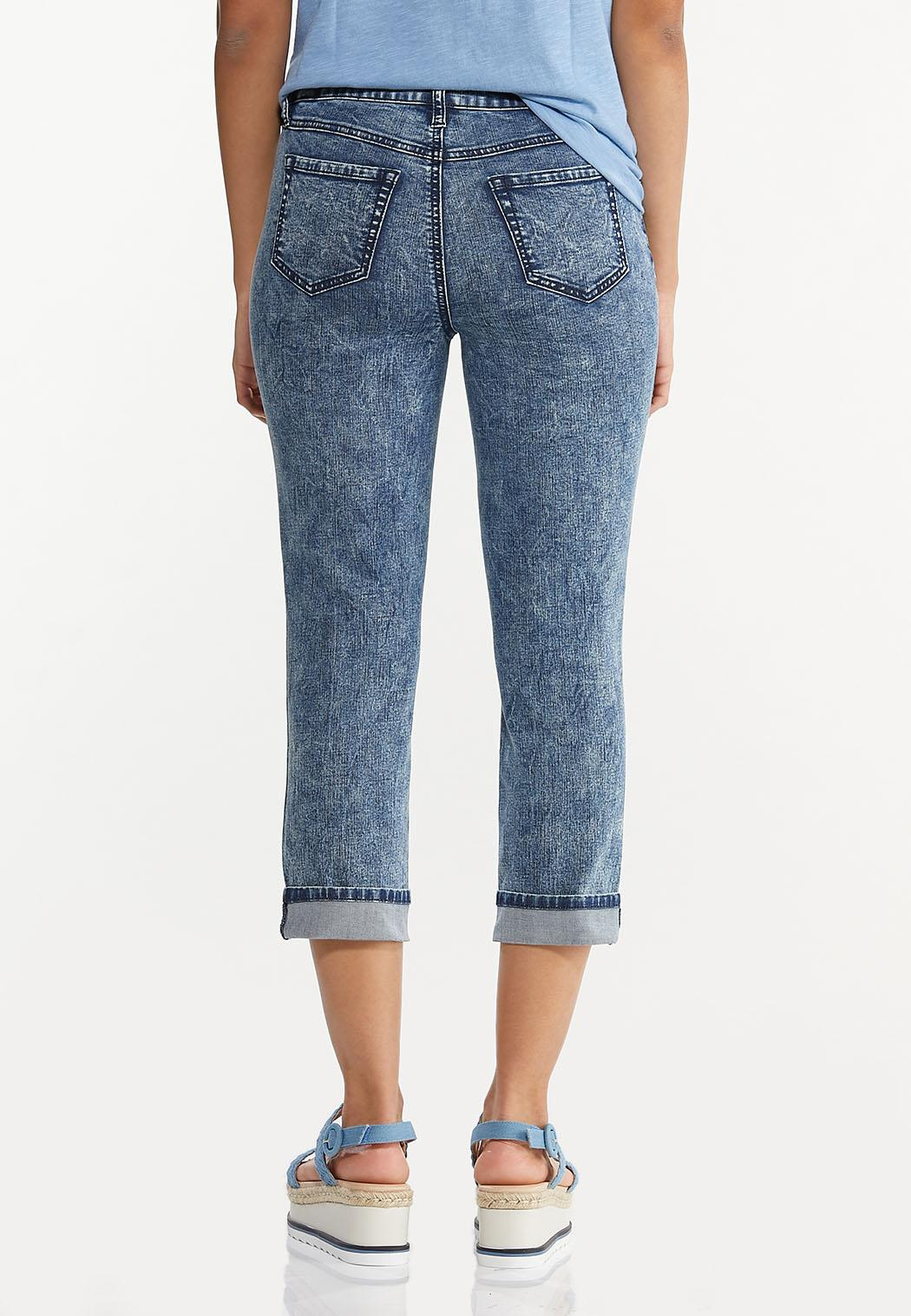 Cropped Vintage Wash Skinny Jeans (Item #44568722)