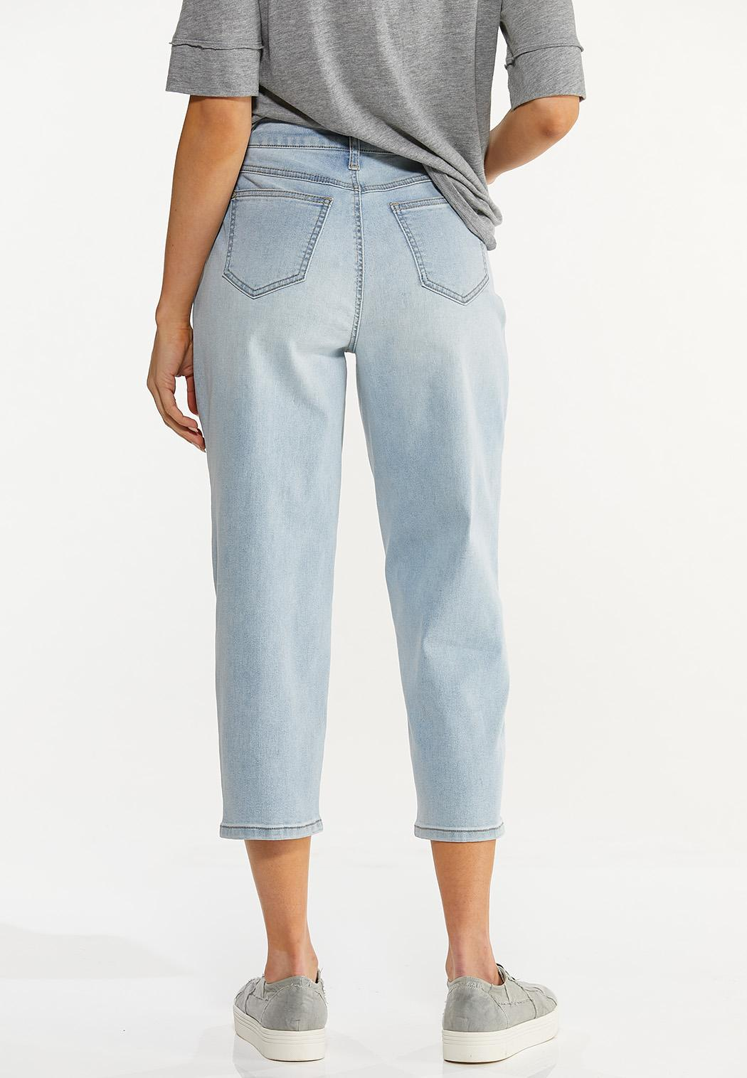 Cropped Mom Jeans (Item #44568793)