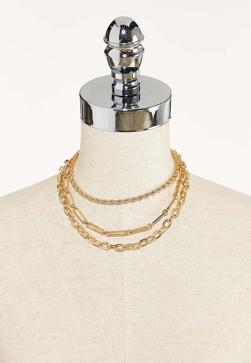 Layered Chain Necklace (Item #44568877)