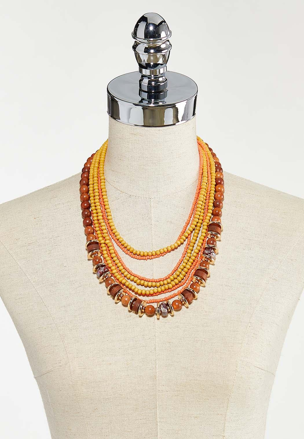 Mixed Bead Layered Necklace (Item #44569242)