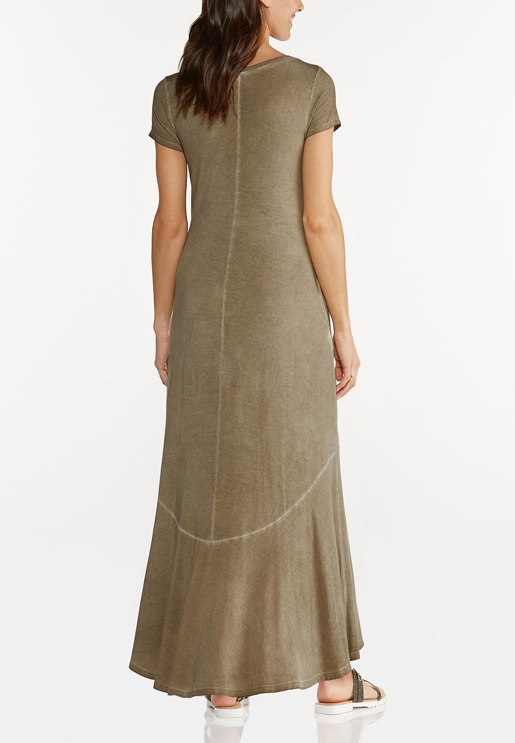 Plus Size Ruffled Tee Maxi Dress (Item #44569291)