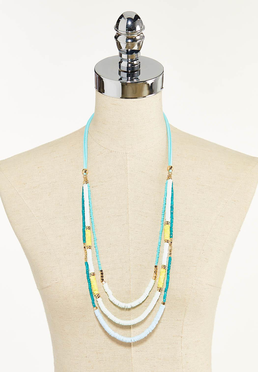 Rubberized Disc Layered Necklace (Item #44569339)