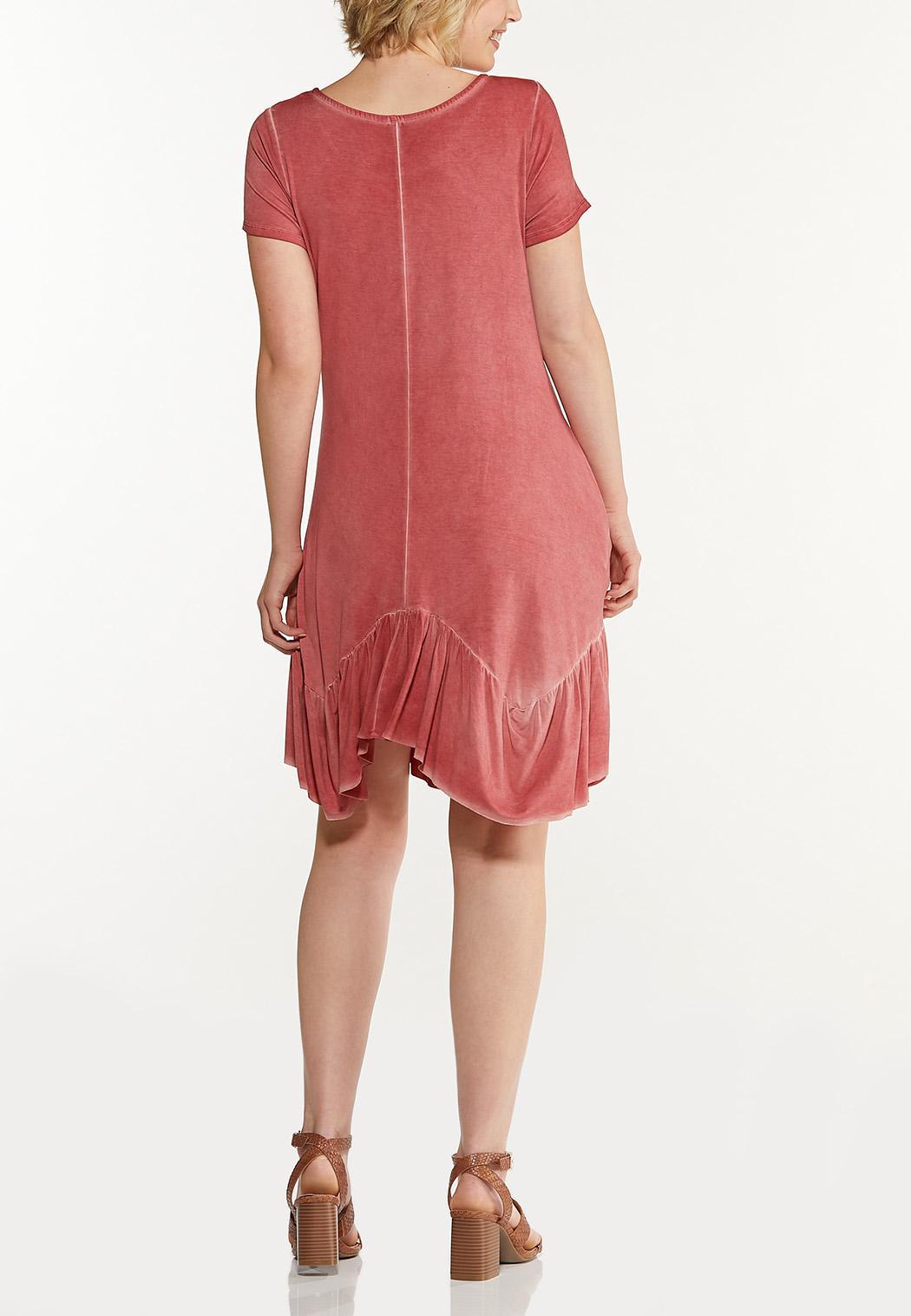 Plus Size Dyed Garnet Swing Dress (Item #44569433)