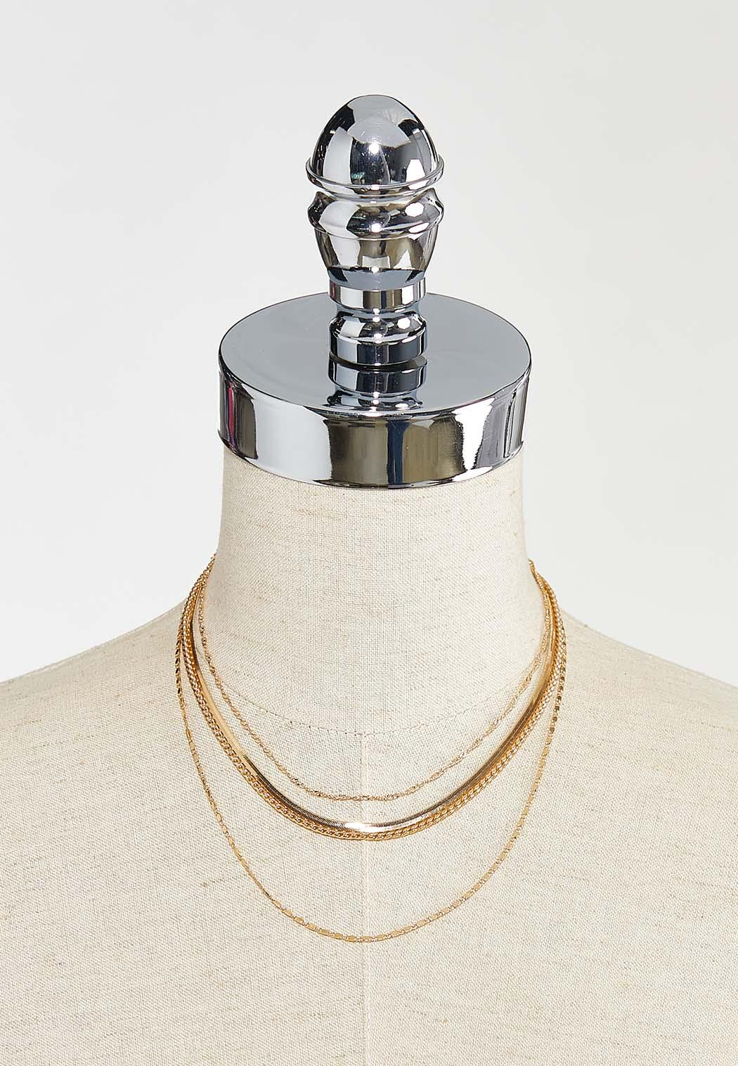 Layered Mixed Chain Necklace (Item #44569523)