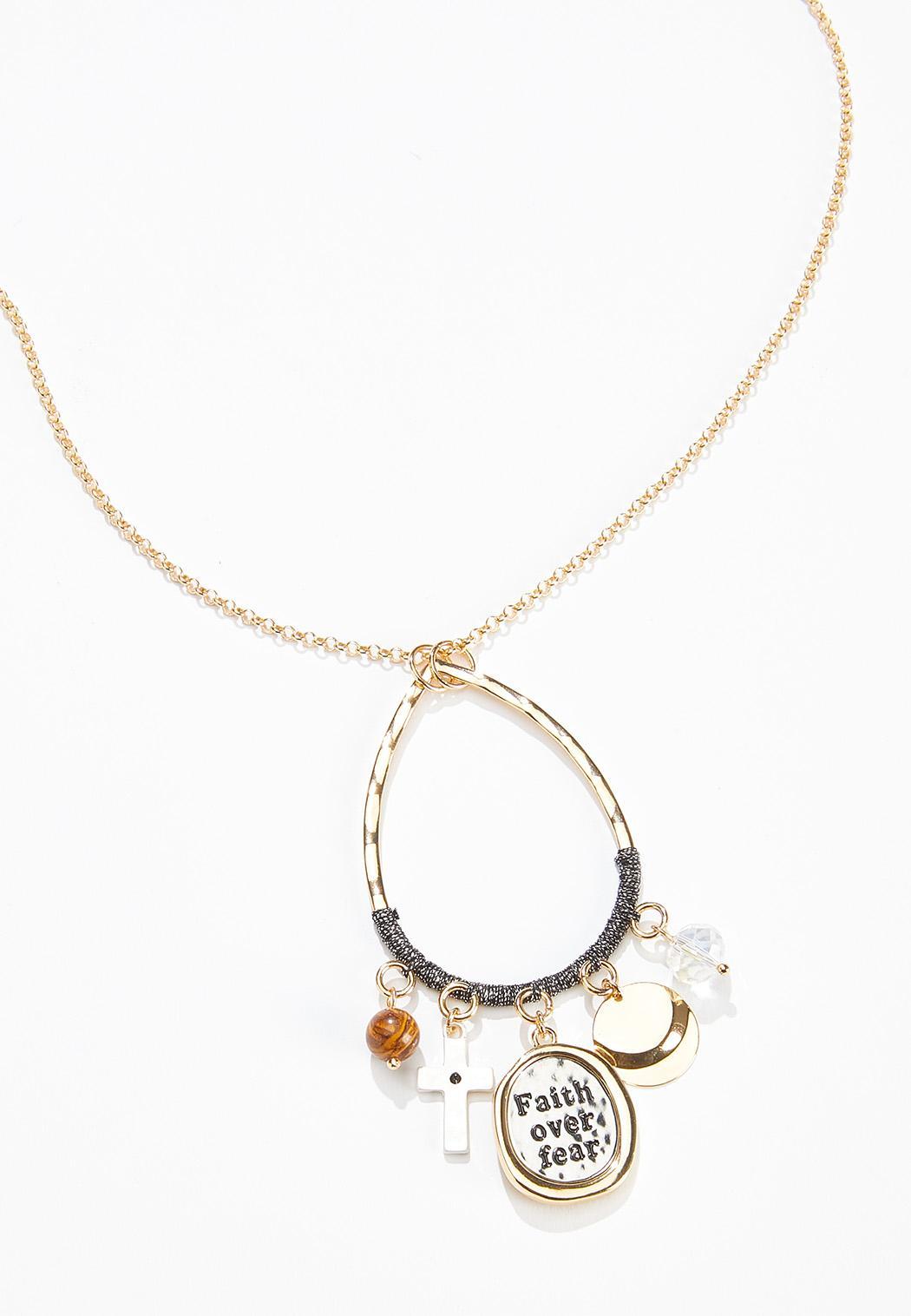 Faith Over Fear Pendant Necklace (Item #44569525)