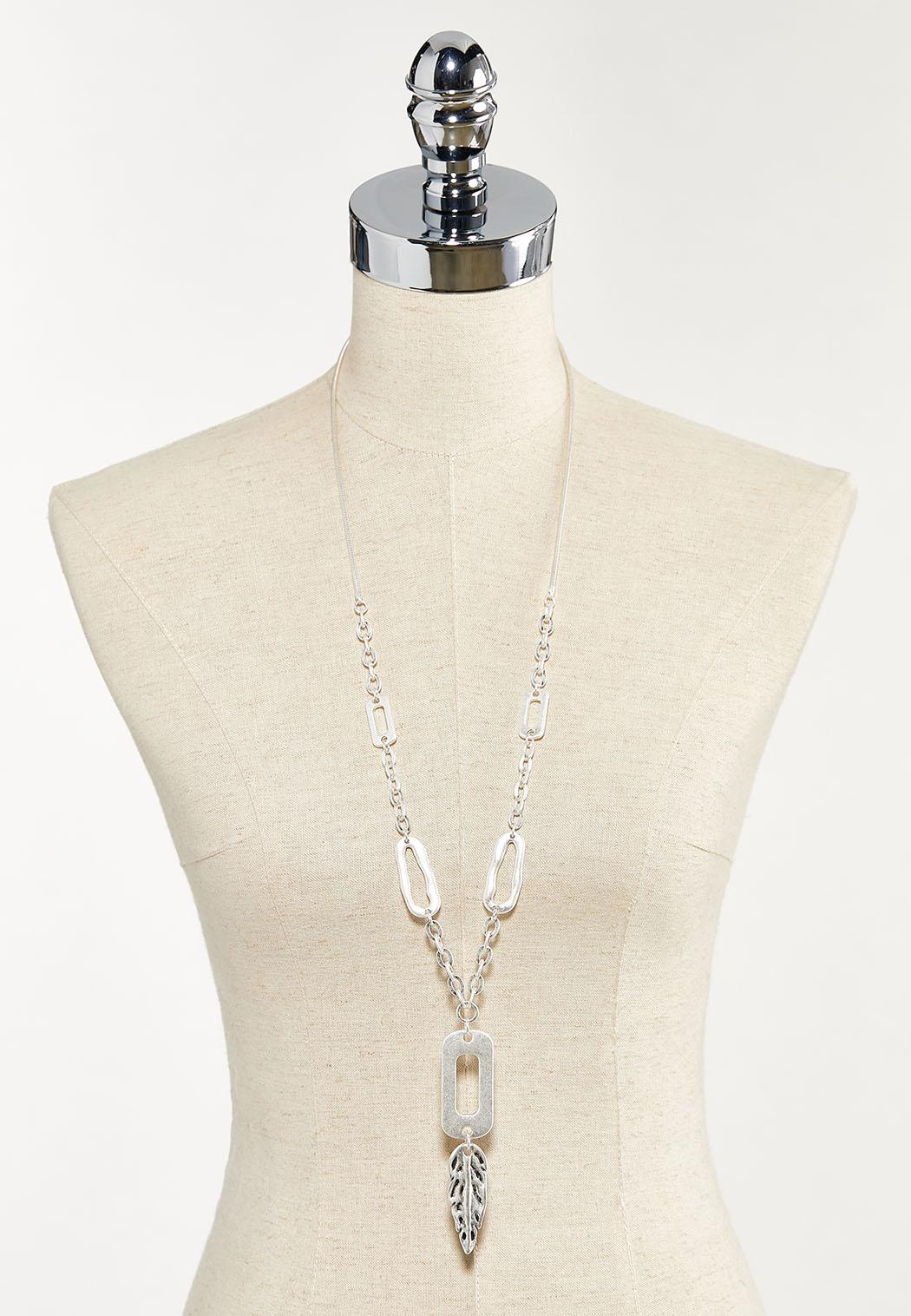 Metal Leaf Pendant Necklace (Item #44569618)