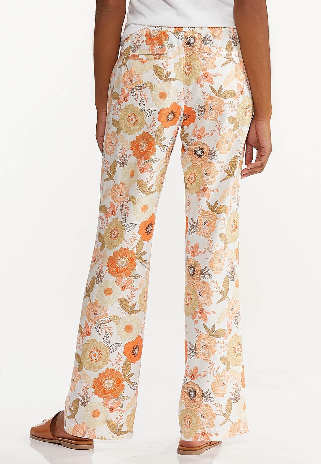 Orange Blossom Linen Pants (Item #44569737)