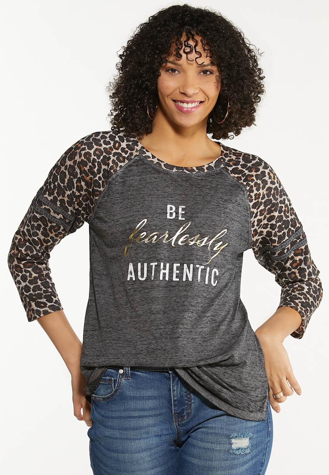Plus Size Fearlessly Authentic Top (Item #44569756)