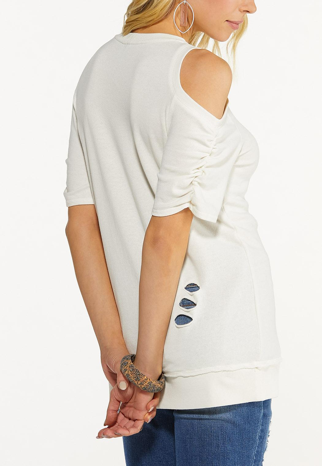 Plus Size Country Girl Cold Shoulder Sweatshirt (Item #44569845)