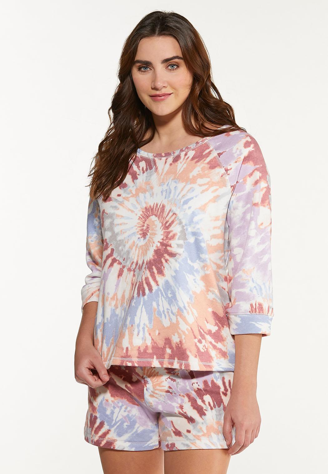 Plus Size Tie Dye Sweatshirt (Item #44569923)