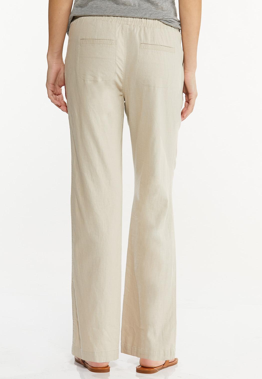 Petite Drawstring Linen Pants (Item #44569944)