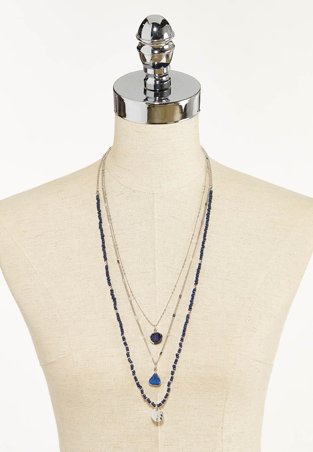 Long Layered Beaded Necklace (Item #44570075)