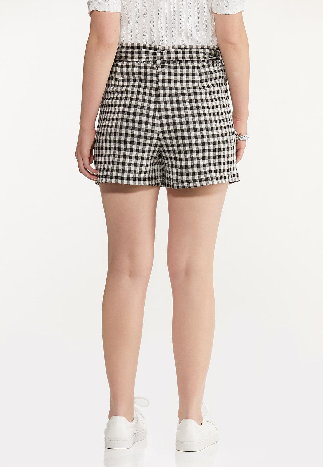 Gingham Self Tie Shorts (Item #44570132)