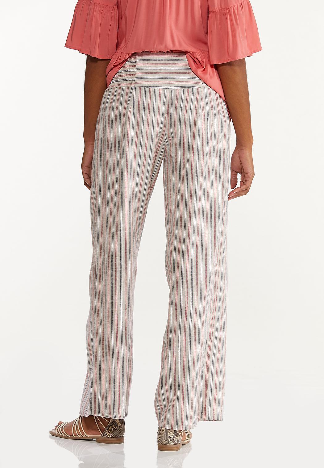 Striped Smocked Linen Pants (Item #44570196)