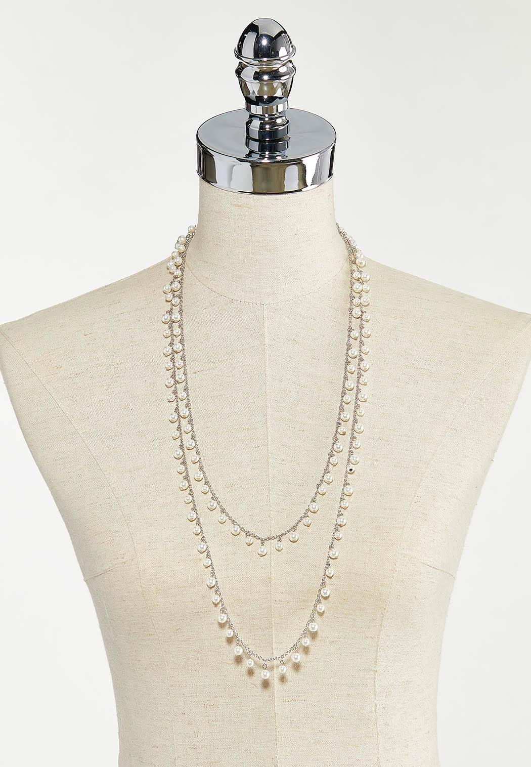 Layered Shaky Pearl Necklace (Item #44570335)
