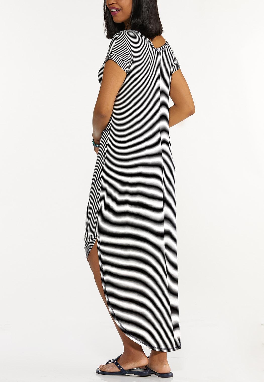 Striped Tee Maxi Dress (Item #44570349)