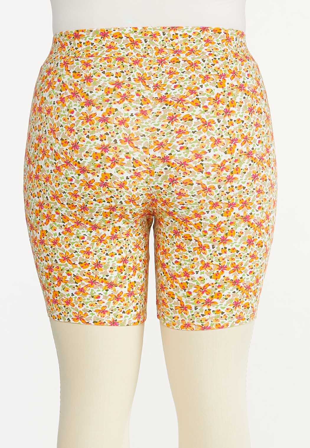 Plus Size Floral Biker Shorts (Item #44570419)