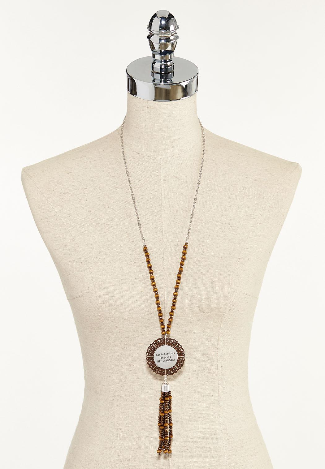 She Is Fearless Tassel Necklace (Item #44570608)