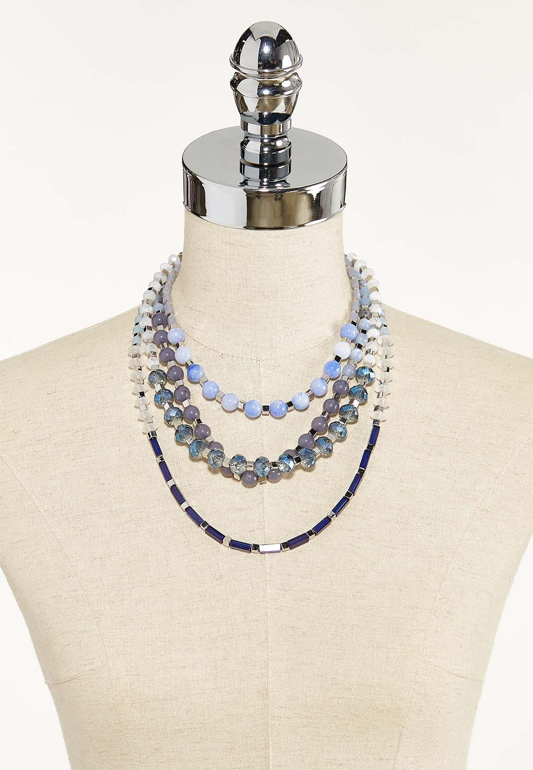 Multi Row Short Beaded Necklace (Item #44570837)