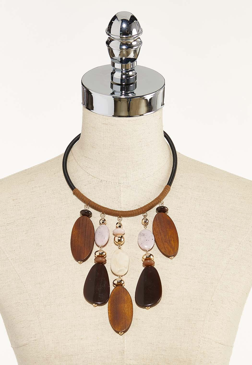 Wood And Acrylic Bead Necklace (Item #44570839)