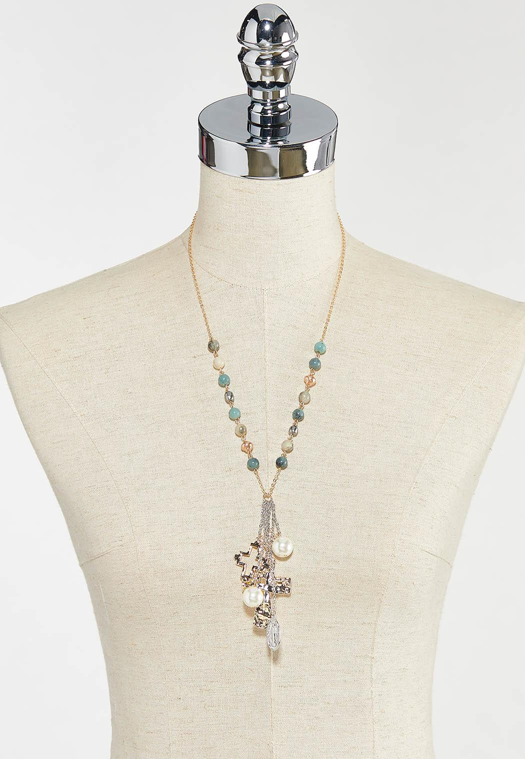 Beaded Cross Necklace (Item #44570864)