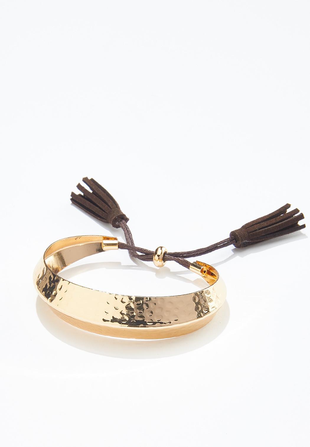 Tasseled Metal Cuff Bracelet (Item #44570905)