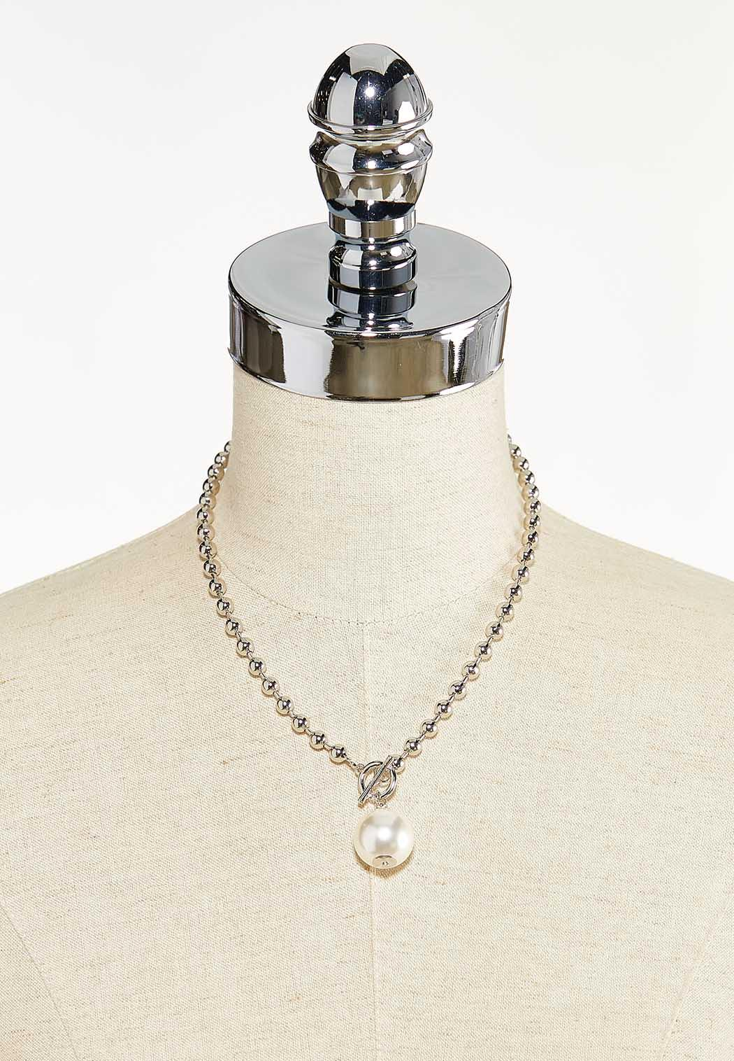 Pearl Ball Toggle Necklace (Item #44571060)