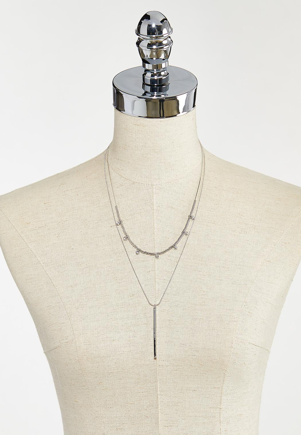 Linear Bar Layered Necklace (Item #44571175)