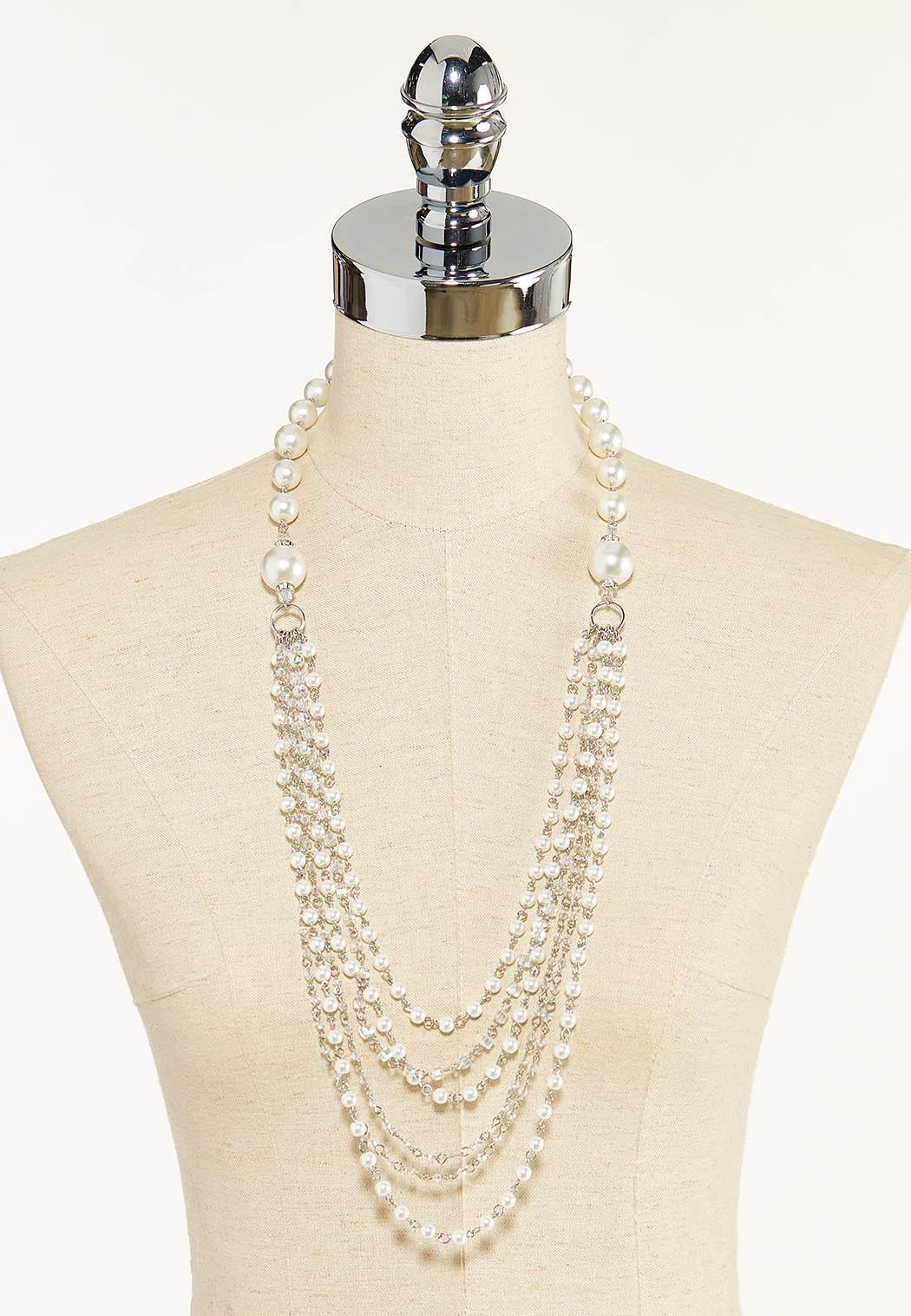 Multi Layer Pearl Necklace (Item #44571195)