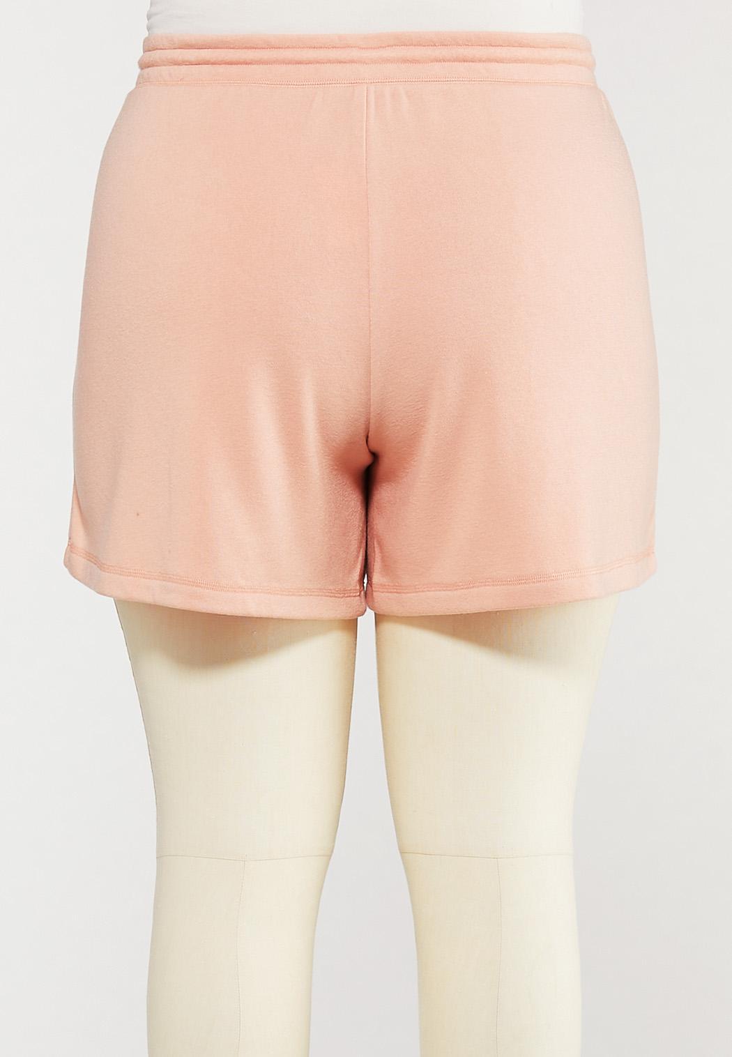 Plus Size Soft Fleece Shorts (Item #44571271)