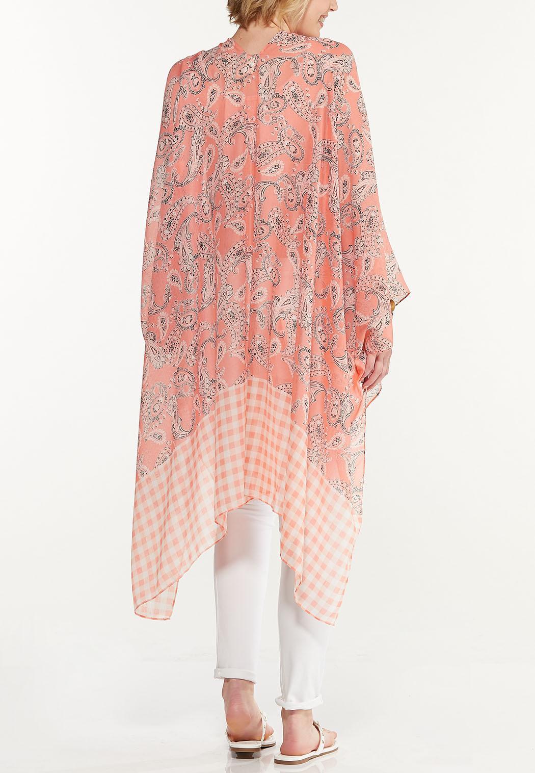 Gingham Paisley Kimono (Item #44571791)