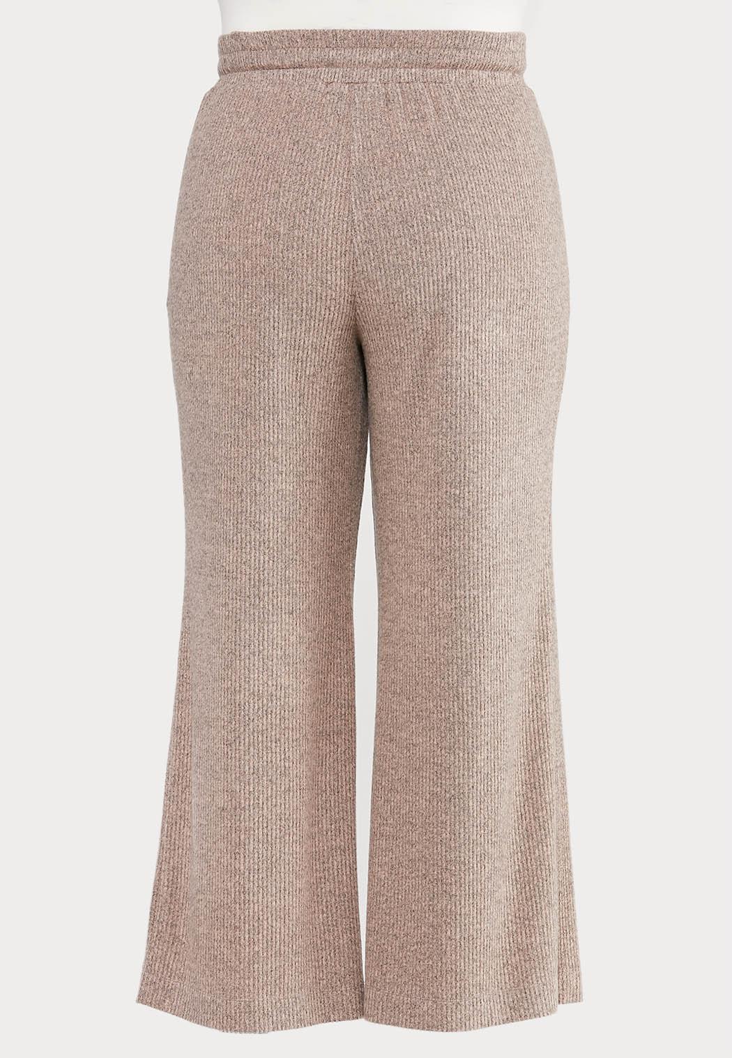 Plus Size Pink Hacci Lounge Pants (Item #44572960)