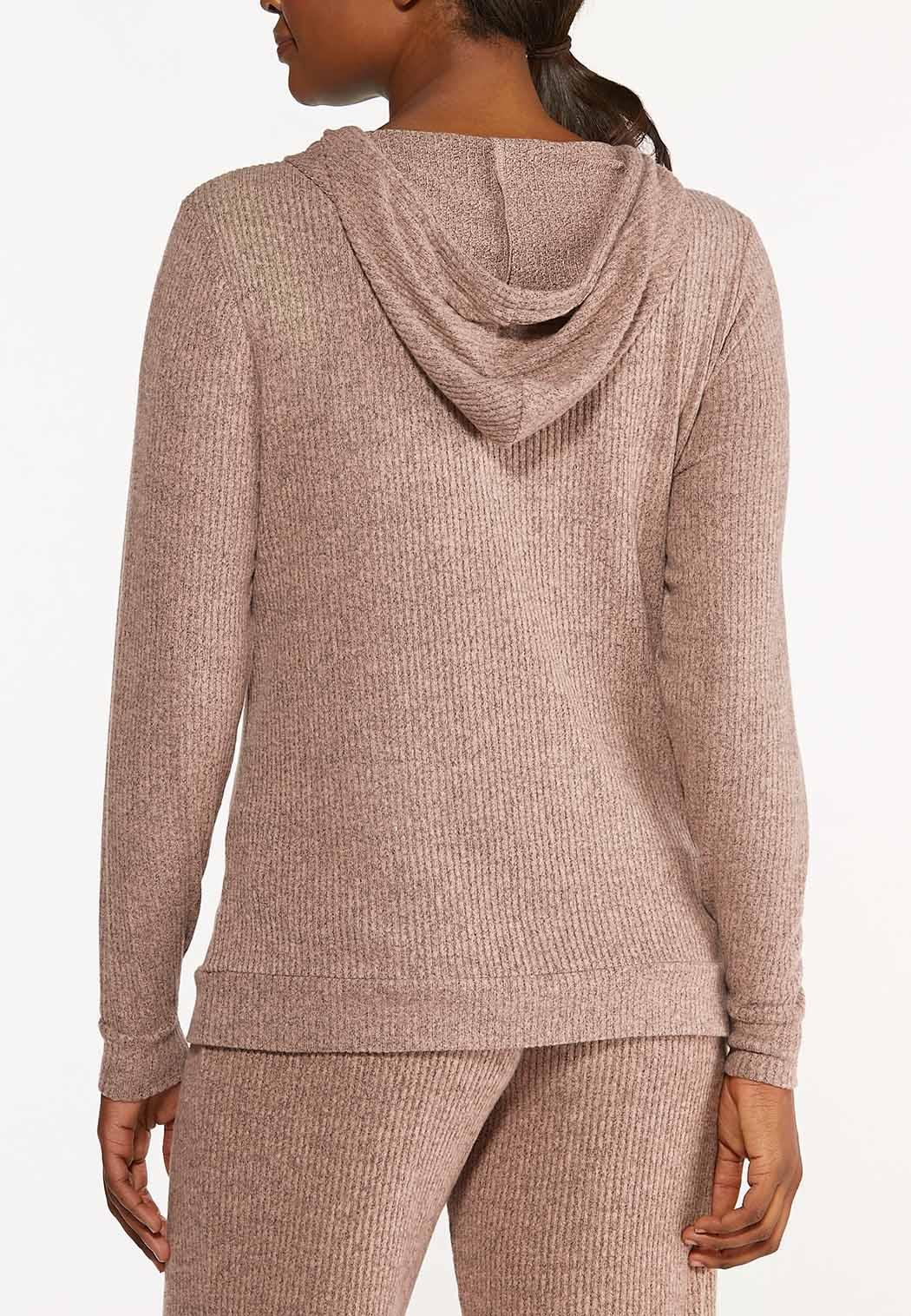 Plus Size Pink Hacci Hoodie (Item #44573002)