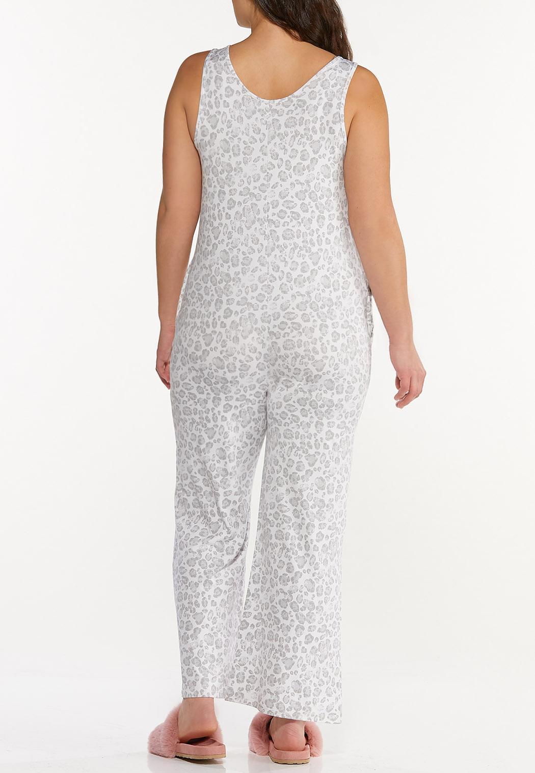 Plus Size Cozy Leopard Jumpsuit (Item #44573020)