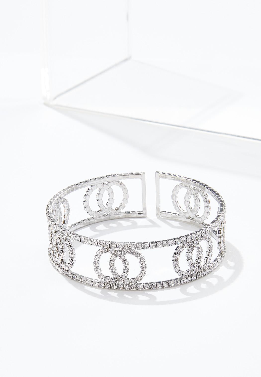 Rhinestone Flex Cuff Bracelet (Item #44573113)