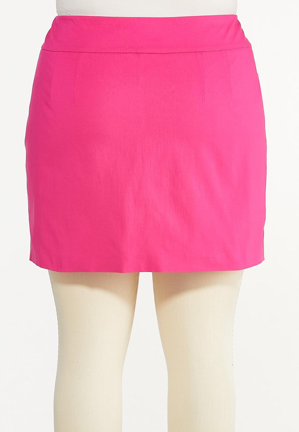 Plus Size Button Hem Skort (Item #44573146)
