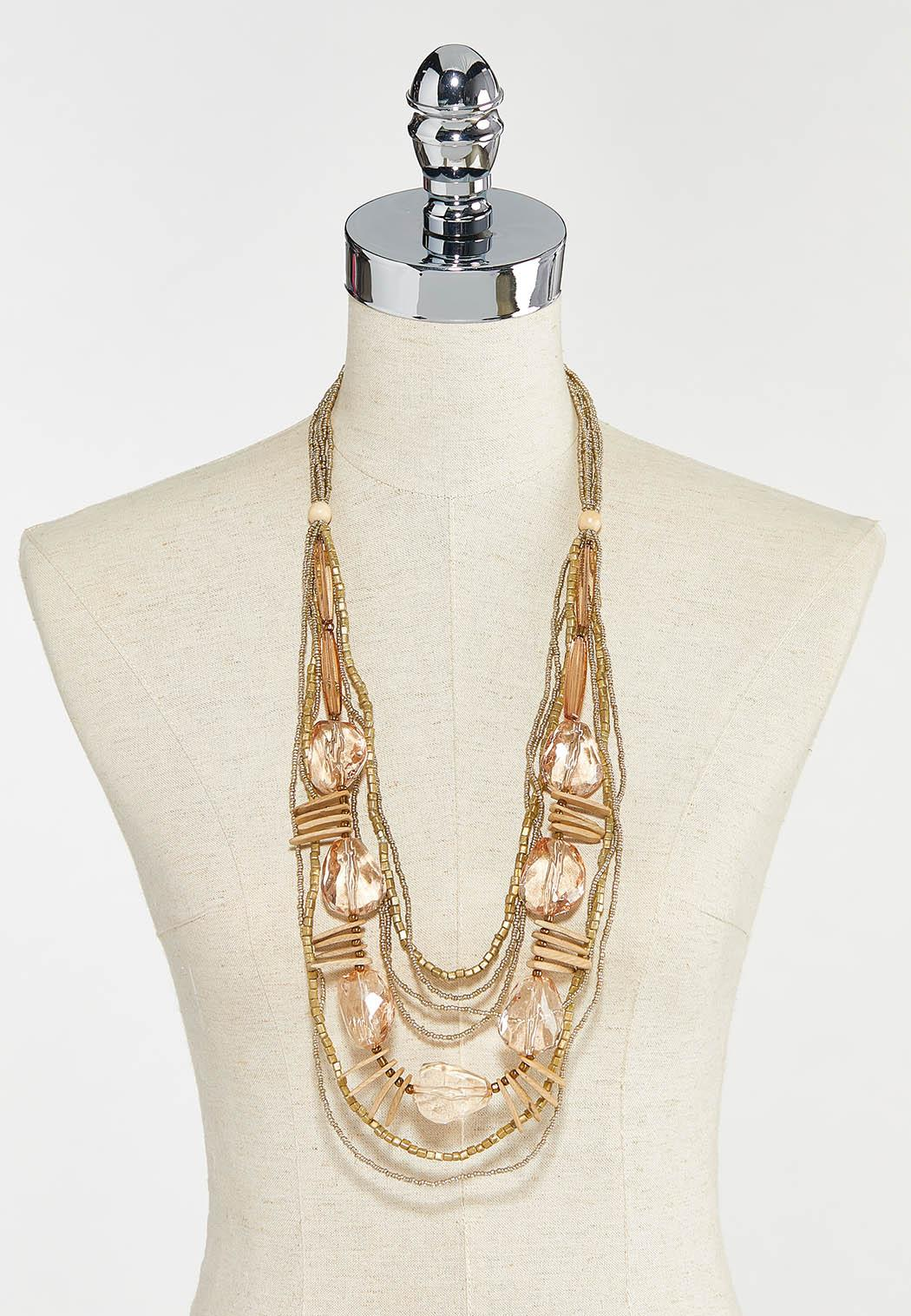 Faceted Stone Layered Necklace (Item #44573152)