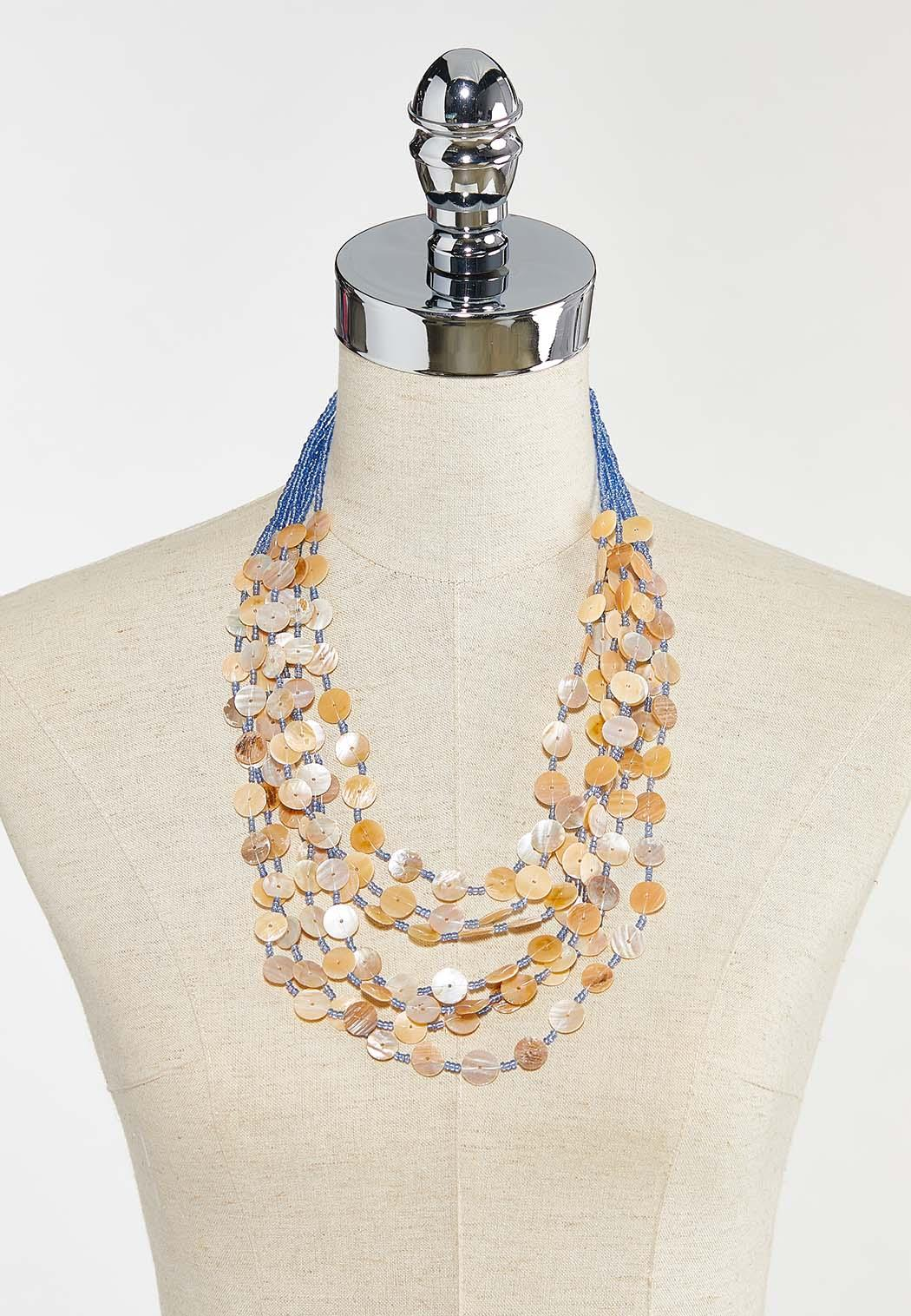 Layered Shell Necklace (Item #44573208)