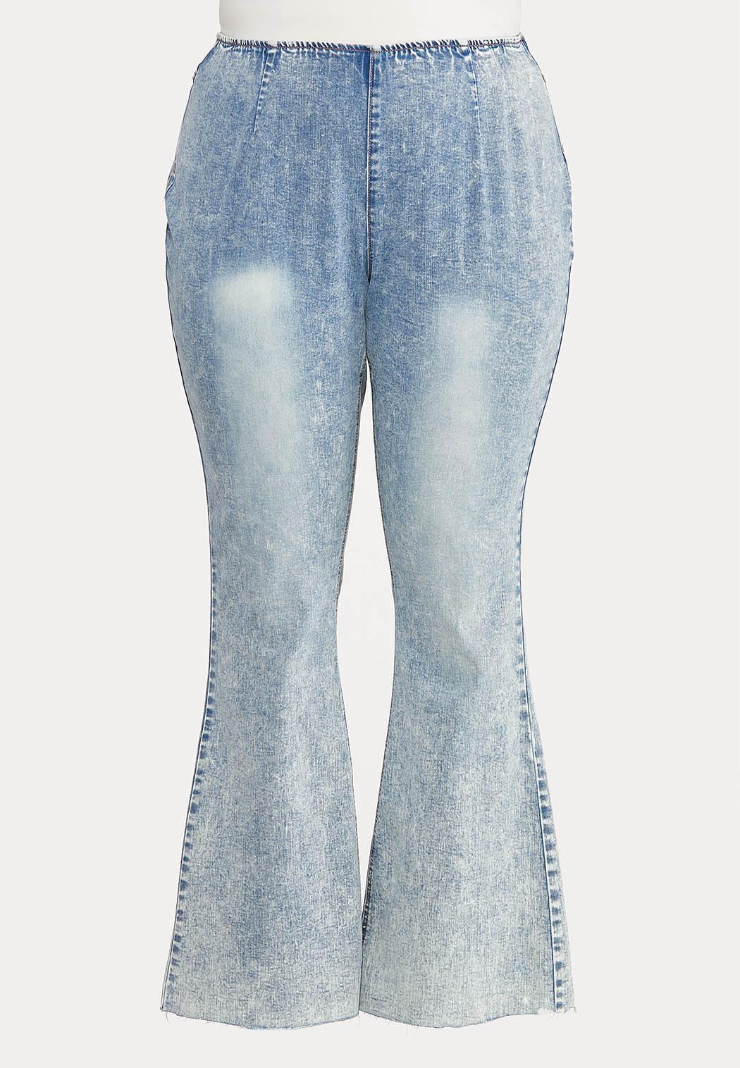 Plus Size Acid Wash High Rise Jeans (Item #44575012)