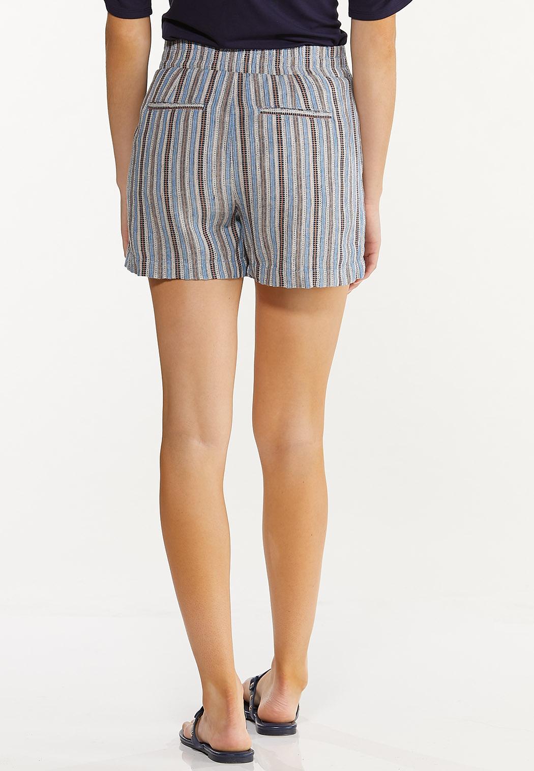 Vintage Stripe Linen Shorts (Item #44575080)