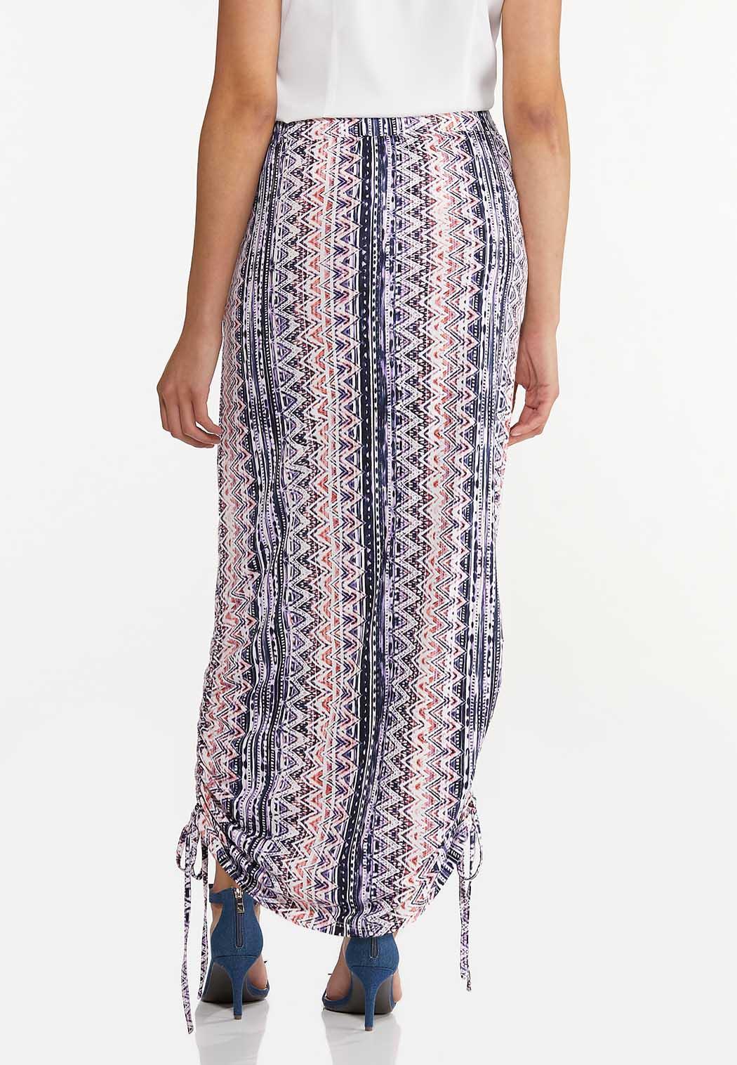 Cinched Aztec Maxi Skirt (Item #44575585)