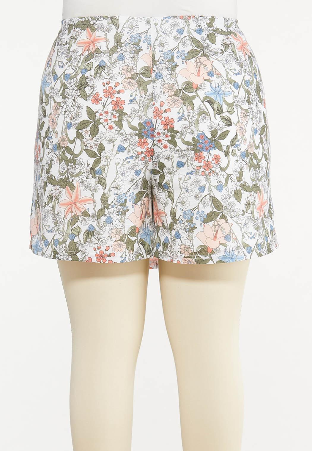 Plus Size Vintage Floral Skort (Item #44575640)