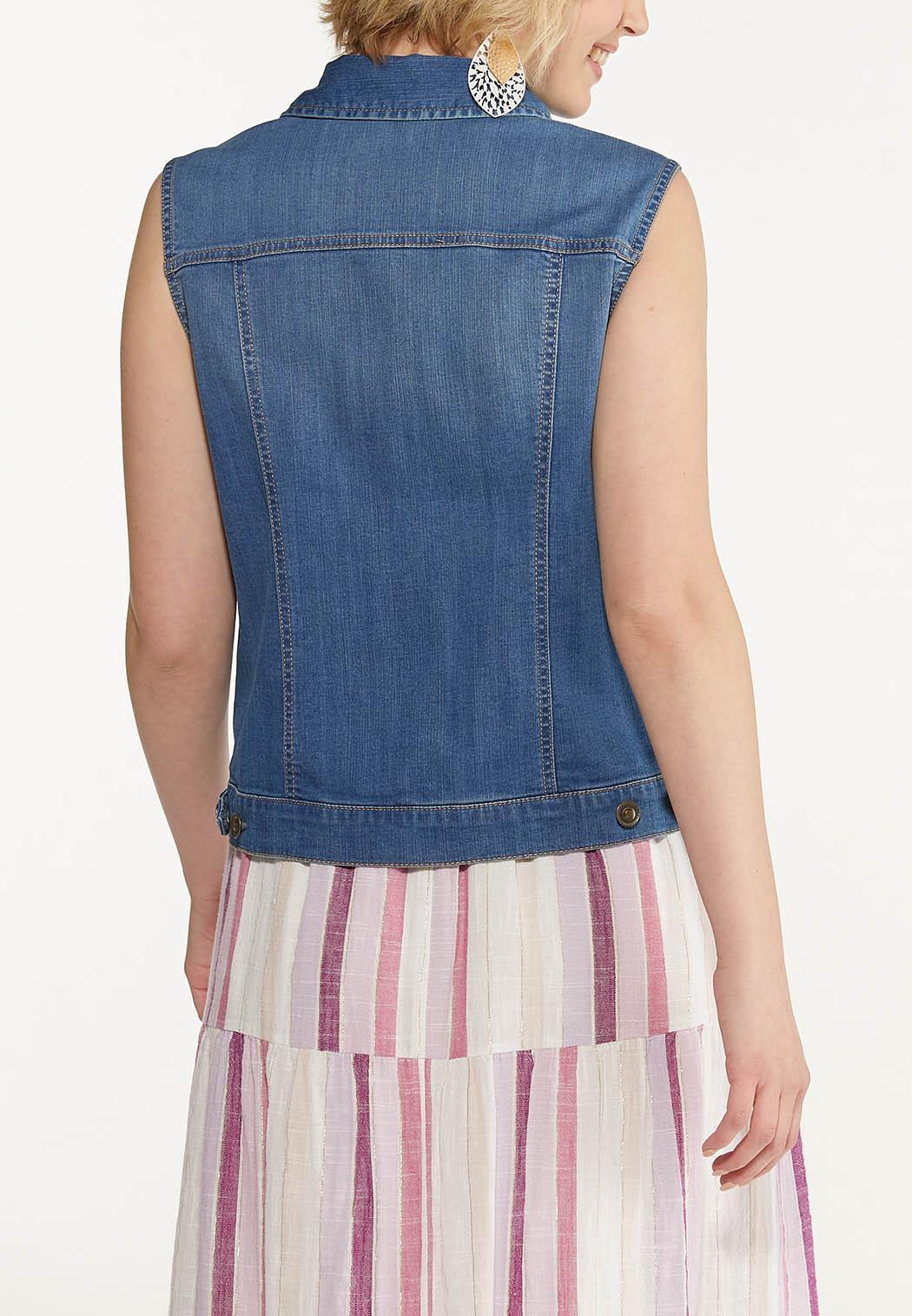 Plus Size Denim Vest (Item #44575699)