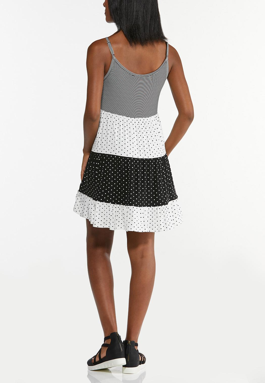 Dotted Stripe Swing Dress (Item #44575988)
