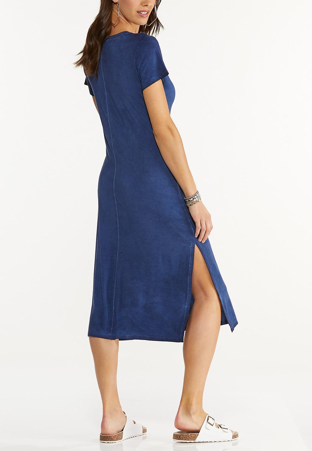 Plus Size Tie Dye Peace Shirt Dress (Item #44576017)
