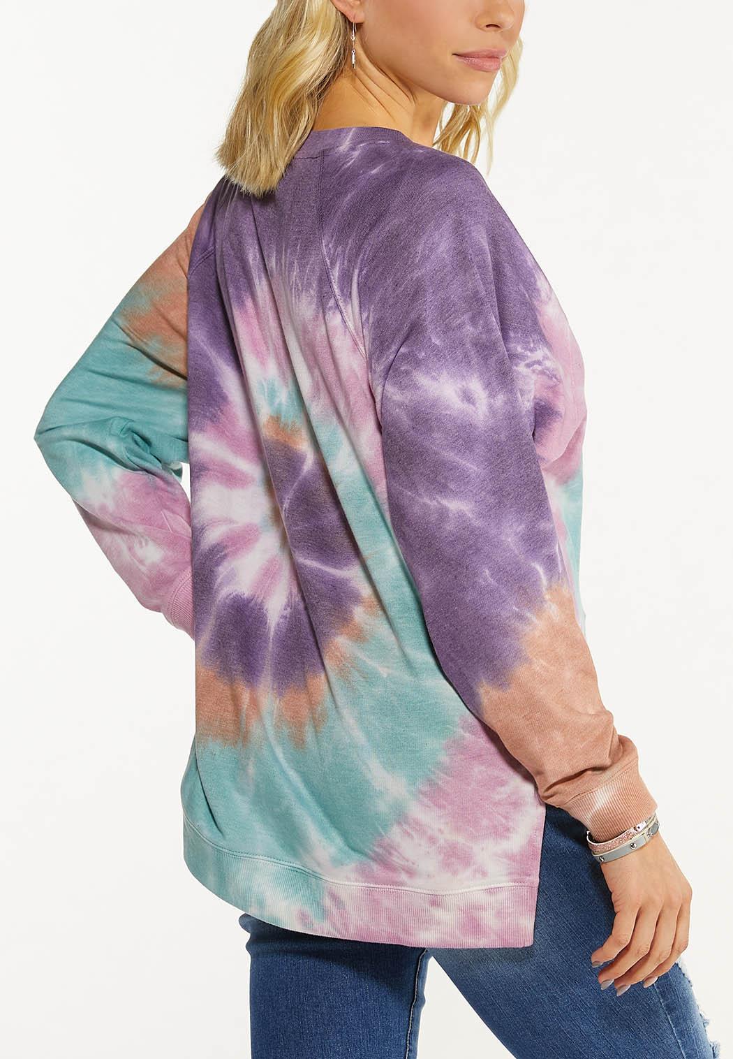 Plus Size Tie Dye Sweatshirt (Item #44576063)