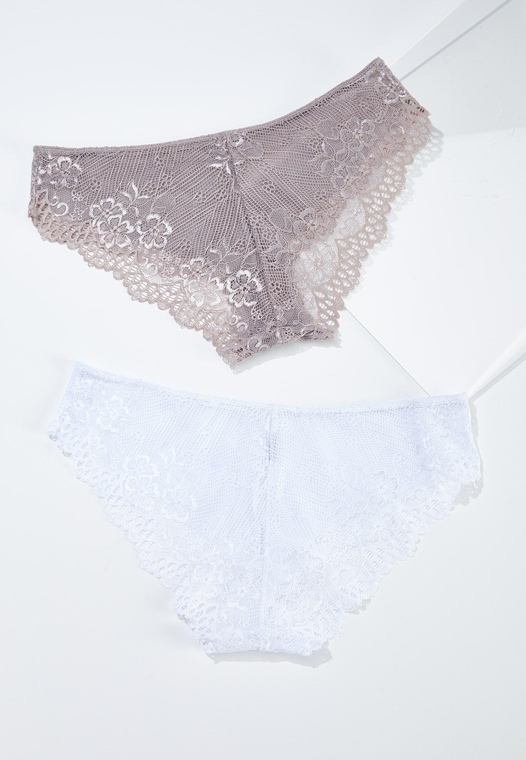 Plus Size Lace Bikini Panty Set (Item #44576371)