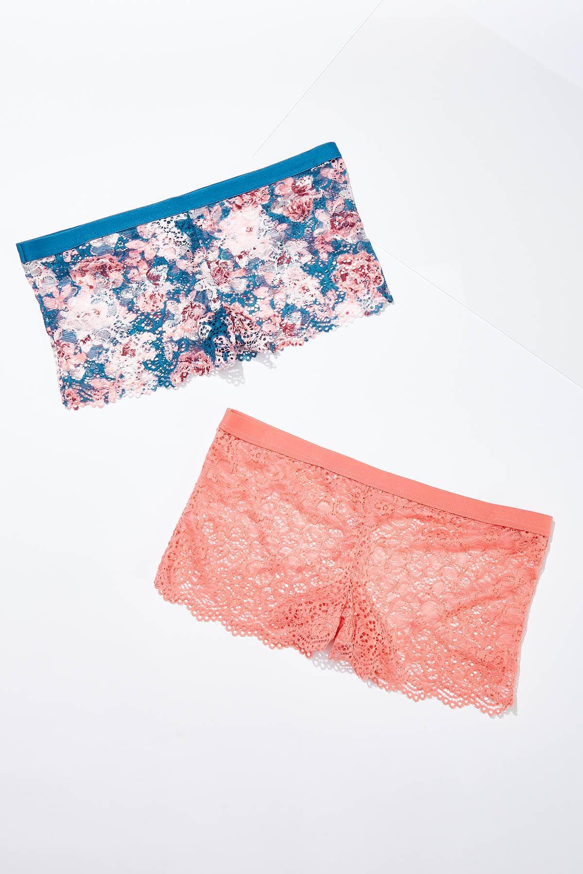 Plus Size Lattice Lace Hipster Panty Set (Item #44576816)