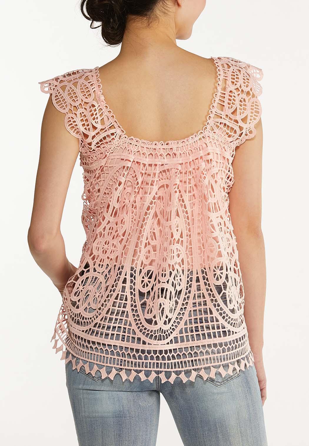 Pink Crochet Tank (Item #44576960)