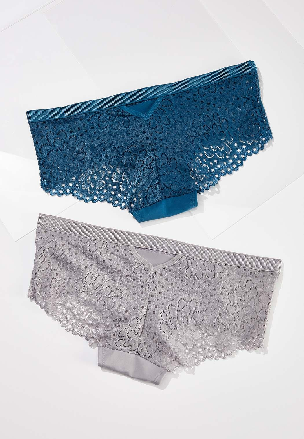 Plus Size Touch Of Teal Panty Set (Item #44576982)